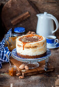 Cottage cheese carrot cake with salted caramel
