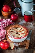 Chocolate apple pie