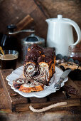 Chocolate layerd brioche