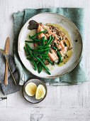 Trout with brown butter, capers and garlic