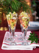 Salmon ceviche with avocado and lime
