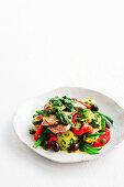 Veal schnitzels with salsa verde and warm potato salad