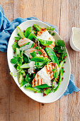 Chicken, asparagus and watercress salad