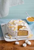 Lemon cake with marshmallow frosting