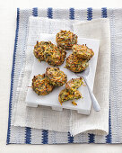 Vegetable fritters made with chickpea flour