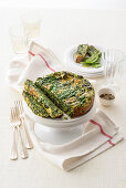Green herb cake from the Aosta Valley