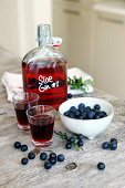 Homemade Gin with sloes