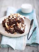 Hazelnut and coconut brownies