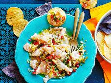 Ceviche mit Snapper und Ananas-Salsa (Mexiko)