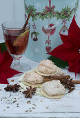 Coconut macaroons and mulled wine