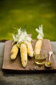Roasted Corn with Chili Marinade