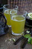 Green tea (matcha), prepared without foam