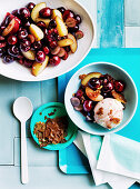 Cherry and plum salad