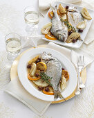 Seabream with fennel, lemon and thyme