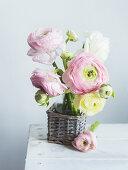Bouquet of ranunculus in vase