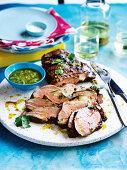 Lemon, rosemary and anchovy marinated lamb
