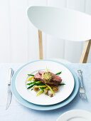 Rare Roast Beef and Anchovy Butter