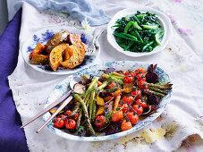 Salad of roast baby vegetables