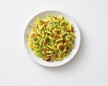 Gnocchetti sardi with courgette