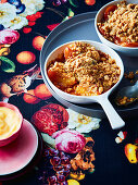 Peach and maple pan crumble
