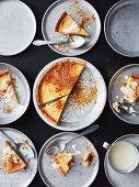 Homey buttermilk pie with cinammon praline