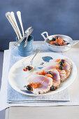 Tonno al lardo (tuna fish with lardo, Italy)