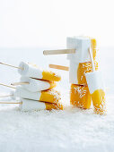 Sugar-Free Coconut and Mango Popsicles