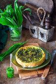 Wild garlic pie