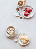 Three varieties of sugar-free ice cream