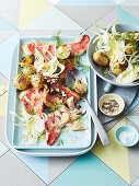 Red snapper with potato salad