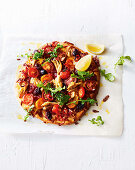 Tomato, chilli &and mackerel pizza