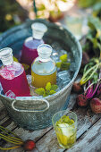 Herb and vegetable infused drinks from the garden