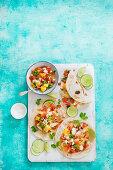 Fish tacos with pico de gallo