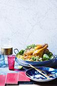 Golden chicken biryani