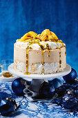 Passionfruit mango pavlova ice cream cake
