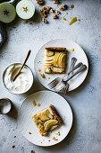 Maple Buckwheat Apple Galette with Walnut Frangipane