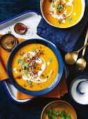 Carrot, cauliflower and zaatar soup