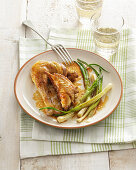 Tonchese Cockerel with Spring Onions
