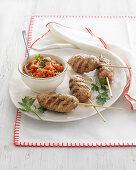 Cevapcici meatballs with ajvar sauce (Croatia)