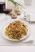 Carbonara of Zucchini and Potatoes with Bacon