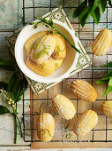 Lime and Vanilla Madeleines
