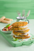 Sicilian style veal schnitzel with herb breadcrumbs
