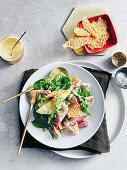 Ham, pea and parmesan salad
