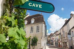A wine shop on Rue Auxeroise, Chablis