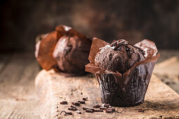 Homemade delicious chocolate muffin