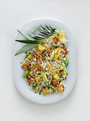 Fried rice with pineapple and pork