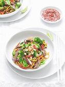 Satay beef stir-fry with Hokkien noodles