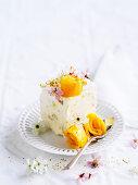 White chocolate mango frozen parfait