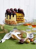 Malted hazelnut layer cake