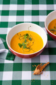 Cream of pumpkin soup with ginger